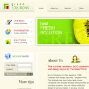 Green Solutions. Скачать шаблоны бесплатно.