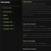 Gunmetal. Шаблоны темного дизайна сайтов.