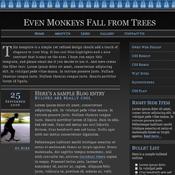 Monkeys Falling. Шаблоны темного дизайна сайтов.