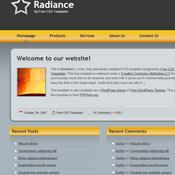 Radiance. Скачать шаблоны бесплатно.