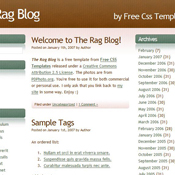 The Rag Blog. Шаблоны сайтов.