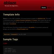 ablaze. Шаблоны темного дизайна сайтов.