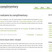 Complimentary. Шаблоны сайтов.