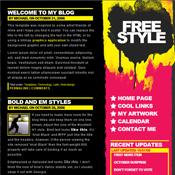 free style. Шаблоны темного дизайна сайтов.