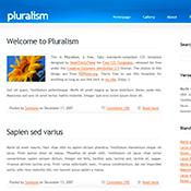 pluralism. Шаблоны сайтов.